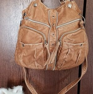 Sanctuary live life brown purse